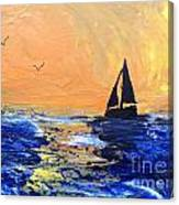 Spirits Rise As The Sails Fill Canvas Print