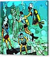 Spiritual Experience Of Scuba Diving Canvas Print
