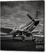 Spitfire In Black And White Canvas Print
