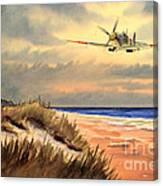 Spitfire Mk9 - Over South Coast England Canvas Print