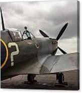 Spitfire On Display Canvas Print