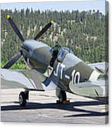 Spitfire On Takeoff Standby Canvas Print