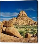 Spitzkoppe Mountain Landscape Of Granite Rocks Namibia Canvas Print