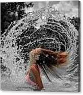 Hair Flip Splash Canvas Print