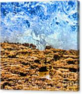 Splash In La Jolla By Diana Sainz Canvas Print