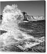 Splash - Panther Beach In Santa Cruz California. Canvas Print