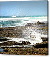 Splashes At Sea Canvas Print
