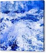 Splashing Water In Rapid River Canvas Print