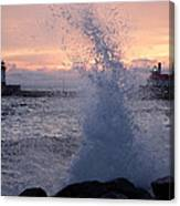 Splashy Sunrise Canvas Print