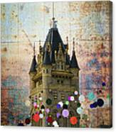Splattered County Courthouse Canvas Print