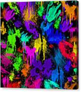 Splattered One Canvas Print