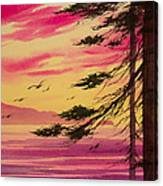 Splendid Sunset Bay Canvas Print