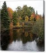 Splendor On A River Canvas Print
