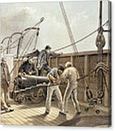Splicing The Trans-atlantic Telegraph Cable After The First Accident On Board The Great Eastern Canvas Print