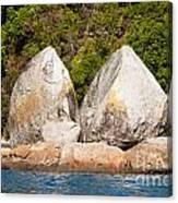 Split Apple Rock Near Abel Tasman Np In New Zealand Canvas Print