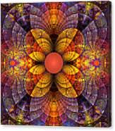 Split Crops Fractal Canvas Print