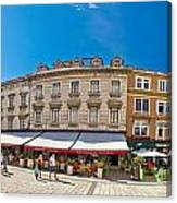 Split Historic Square Panoramic View Canvas Print