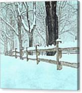 Split Rail Blues Canvas Print
