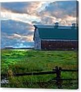 Split Rail Fence Barn Canvas Print