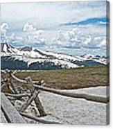 Split Rail Fence Near Alpine Visitor's Center In Rocky Mountain Np-co Canvas Print