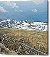 Split Rail Fence On East Side Of Trail Ridge Road In Rocky Mountain National Park-colorado Canvas Print