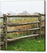 Split-rail Fence - Vertical Canvas Print