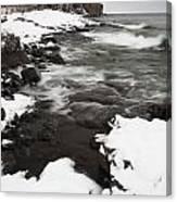 Split Rock Lighthouse Winter 17 Canvas Print