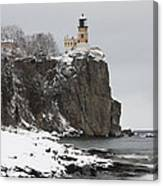 Split Rock Lighthouse Winter 19 Canvas Print