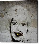 Spoiled Portrait In The Wall Canvas Print