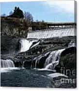 Spokane Falls At Low Tide Canvas Print