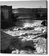 Spokane Falls Spring Flow Canvas Print