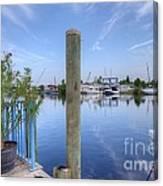 Sponge Boat Docks 2  Canvas Print