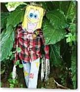 Sponge Bob Scarecrow Canvas Print