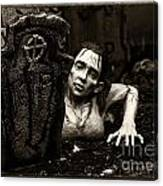 Zombie Lady Sepia Canvas Print