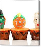 Spooks Cup Cakes On White Background Canvas Print