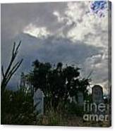 Spooky Boot Hill Cemetery Canvas Print