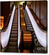 Spooky Escalator At The Brown Palace In Denver Canvas Print