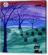 Spooky Night Canvas Print