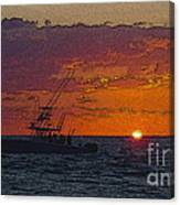 Sport Fisher Canvas Print