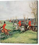 Sporting Scene, 19th Century Canvas Print