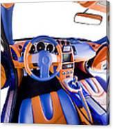 Sports Car Interior Canvas Print