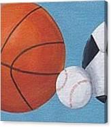 Sports Line Up Canvas Print