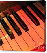 Spotlight On Piano Canvas Print