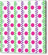 Spotty Stripe Canvas Print
