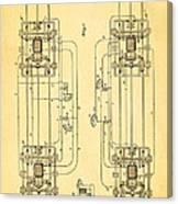 Sprague Electric Railway Patent Art 1885 Canvas Print