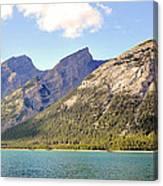 Spray Lake Mountains Canvas Print