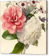 Spray Of Three Flowers Canvas Print