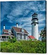 Spring At Cape Cod Light Canvas Print
