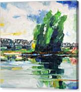 Spring At River Elbe Near Doemitz Germany Canvas Print