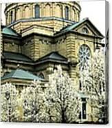 Spring At The Basilica Canvas Print